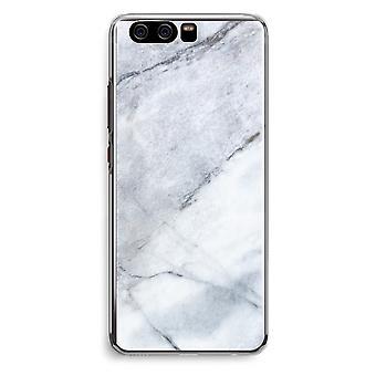 Huawei P10 Transparent Cover (Soft) - Marble white