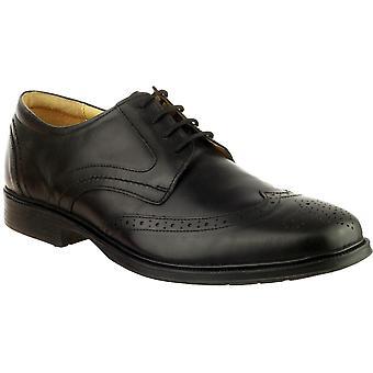 Cotswold Mens Mickleton Lace Up Premium cuir Oxford chaussures noir