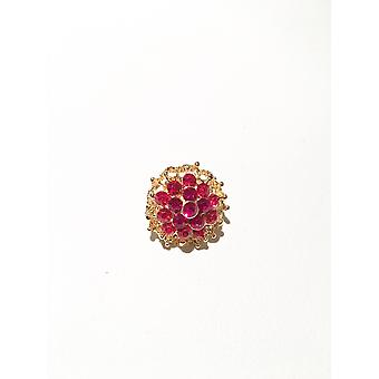 Gold and Red Brooch