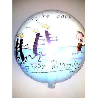 Folie ballong de är tillbaka födelsedag ljus