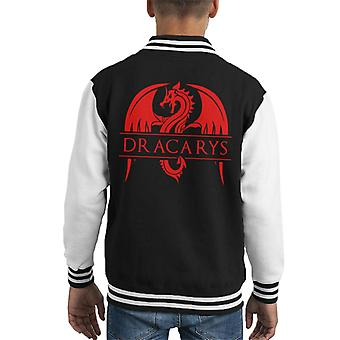 Game Of Thrones Dracarys Dragon Logo Kid's Varsity Jacket
