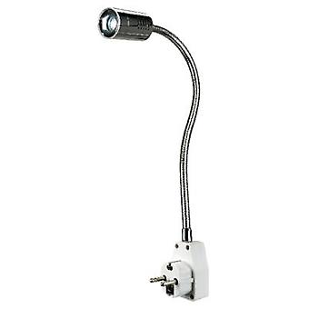 SLV Dio Flex plug 146672 LED plug-in Light 1 W warm wit chroom