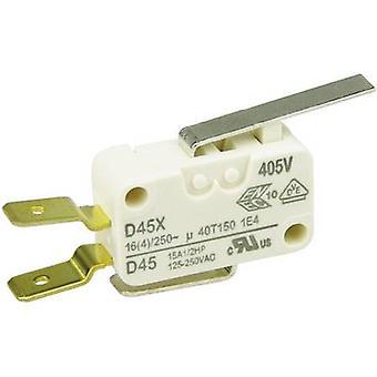 ZF Microswitch D45U-V3LD 250 V AC 16 A 1 x On/(On) momentary 1 pc(s)