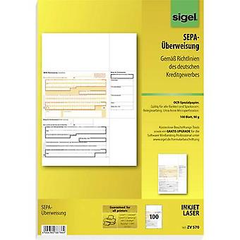 Sigel Bank transfer form SEPA-Überweisung A4 No. of sheets: 100 ZV570