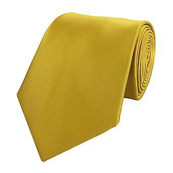 Stropdas de stropdas tie stropdas 8cm geel goud uni Fabio Farini