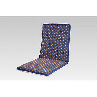 Cojines de silla doble asiento con respaldo azul teñido lana de 80 x 37 cm