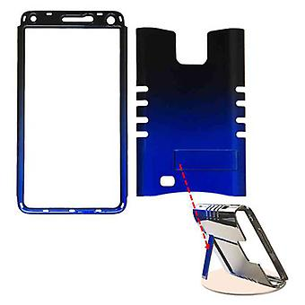 Rocker Series Snap-On Protector Case for Samsung Galaxy Note 4 (Two Tones Black and Blue)