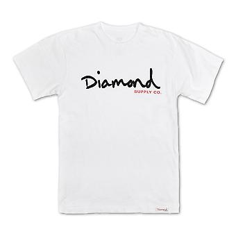Diamond Supply Co OG Script Core T-shirt White