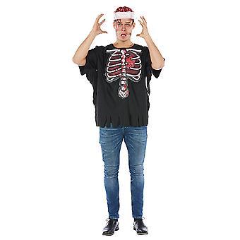 Męska koszula 3d horror kostium Halloween szkielet T-Shirt