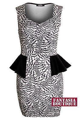 Naisten musta Alaston malli lyhyt Peplum Bodycon naisten hame mekko