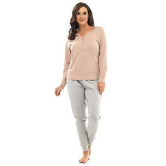 Ladies Tom Franks Jersey Marl Design Long Pyjama pajama Sleepwear