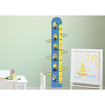 Minions Sticker wall Misuracrescita Meter