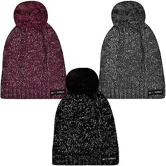 ProClimate Womens Thinsulate Waterproof Winter Knitted Beanie Pom Pom Bobble Hat