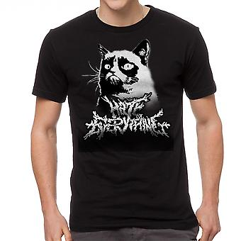 Grumpy Cat Metalcore Men's Black Funny T-shirt