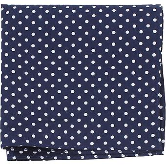 Knightsbridge Neckwear Polka Dot Pocket Square - Navy/Blue