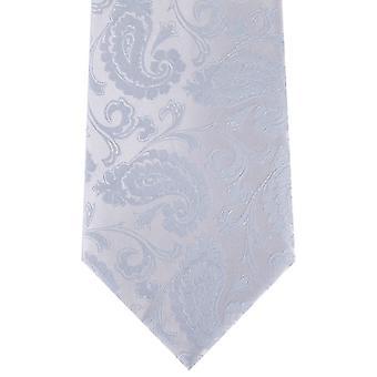 Cravatta con motivo cachemire di David Van Hagen - blu chiaro