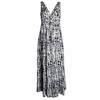 Veromia Occasions Ruched Sleeveless Chiffon Maxi Dress