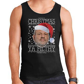 Merry Christmas Ya Filthy Animal Harvey Weinstein Men's Vest