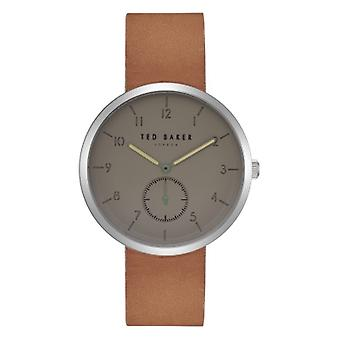 Ted Baker Josh Grey Dial Brown Leather Men's Watch TE50011008