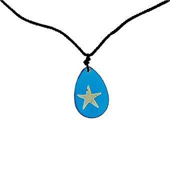The Olivia Collection Nautical Underwater Life Necklace with REAL Starfish Set In Blue Resin
