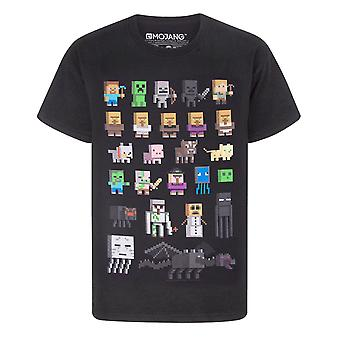 Minecraft Sprites Boys Black T-Shirt