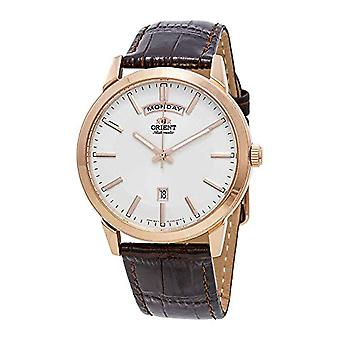 Orient Automatic Analog Man with a leather strap FEV0U002WH