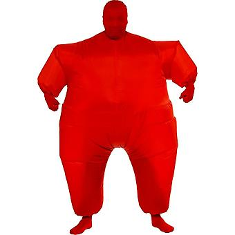 Inflatable Skin Suit Red Adult