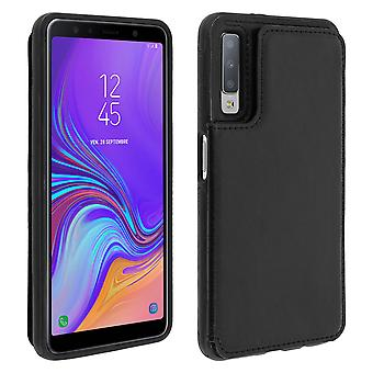 Samsung Galaxy A7 2018 Shockproof Case, Card Holder Wallet, Forcell, Black