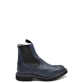 Tricker's Ezbc150008 Men's Blue Leather Ankle Boots