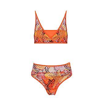 Paramidonna Mpvs004 Dames's Oranje Nylon Bikini