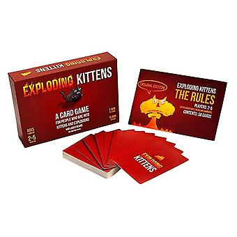 Exploding Kittens: A Card Game About Kittens and Explosions and Sometimes Goats Funny Game Cards Suitable for Parties 2-5 Players Original PG Edition
