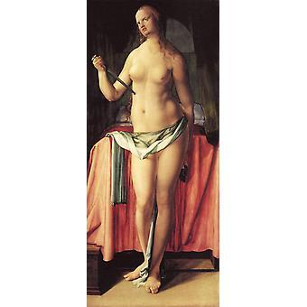 The Suicide of Lucretia, Albrecht Durer, 80x35cm