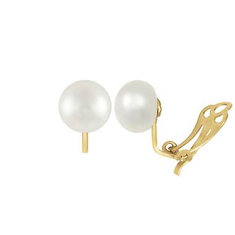 Eternal Collection 9ct Gold AAA White Pearl Stud Clip On Earrings