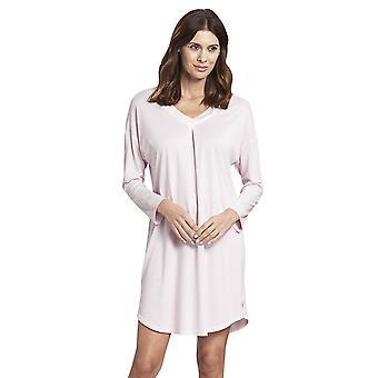 Rosch 1193720-14706 Women's Pure Pink Minimal Print Cotton Nightdress