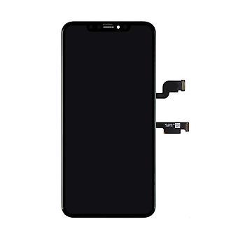 الاشياء المعتمدة® iPhone XS ماكس الشاشة (شاشة تعمل باللمس + OLED + أجزاء) AAA + الجودة - أسود