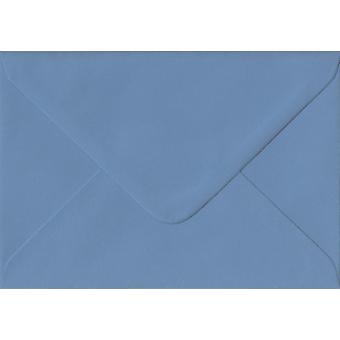 Französisch Blau gummiert C6/A6 farbige blaue Umschläge. 135gsm GF Smith Colorplan Papier. 114 mm x 162 mm. Banker Stil Umschlag.