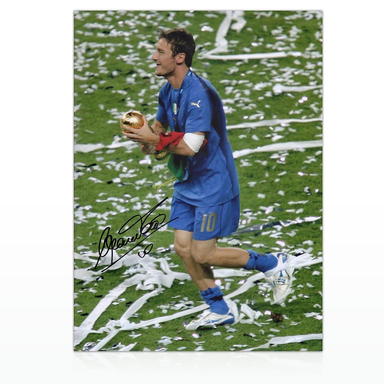 Francesco Totti Signed Italy Photo: World Cup Winner