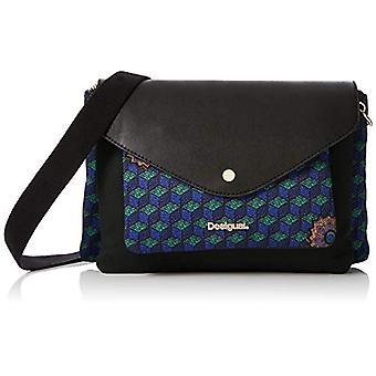 Desigual Bols_urban Mandala Petrer - Blue Women's shoulder bags (Azul Tinta) 7x17x29.5 cm (B x H T)