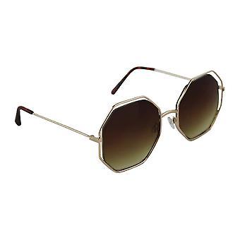 Óculos escuros Senhoras Hexagon - Ouro/Bruin1996_2