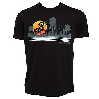 Brooklyn Brewery Beer Sunset Water Towers Men-apos;s T-Shirt noir