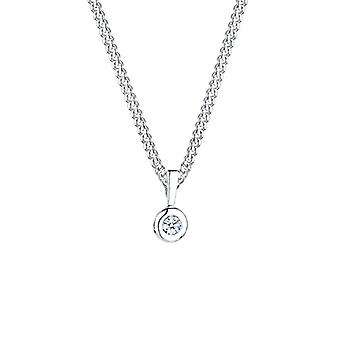 Diamore Necklace with Women's Pendant in Silver 925 with Diamond H Round