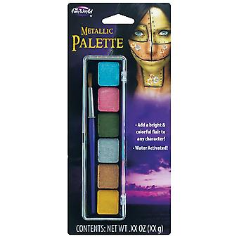6-kolorowa paleta do makijażu metalicznego