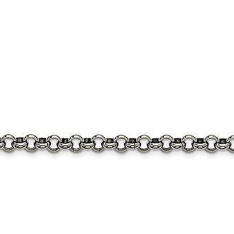 Stainless Steel Polished Fancy Lobster Closure 6mm Rolo Chain Bracelet 7.5 Inch Jewelry Gifts for Women