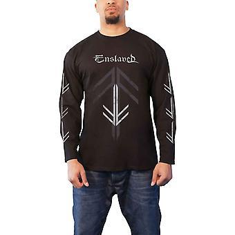 Enslaved T Shirt Rune Cross Band Logo new Official Mens Black Long Sleeve