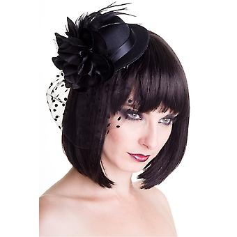 Vietato Vintage Big Black Fascinator Cappello