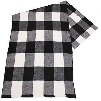 Swole Panda Classic check bamboe sjaal-zwart/wit