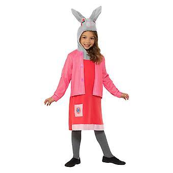 Meisjes Peter Rabbit Lily Bobtail Fancy Dress kostuum