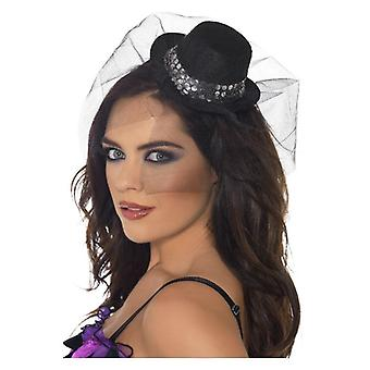 Womens Fieber Mini Top Hat auf Stirnband Fancy Dress Zubehör