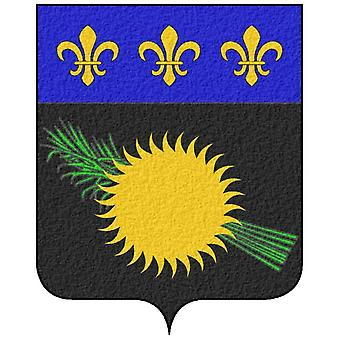 Sticker sticker vinyl car adhesive coat of arms france coat of arms guadeloupe gua