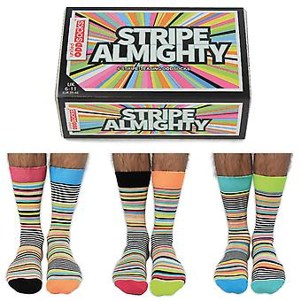 United Oddsocks Men's Stripe Almighty Socks Gift Set
